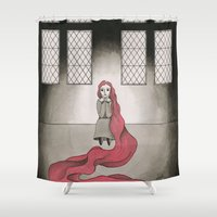 rapunzel Shower Curtains featuring Rapunzel by Jarillo ArtCraft