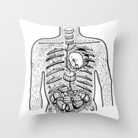 drums Throw Pillows featuring in drums by nuba