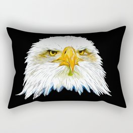 bald eagle vector art Rectangular Pillow