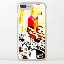 Happy noise trumpet players Clear iPhone Case