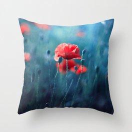 Moody Nature Throw Pillow