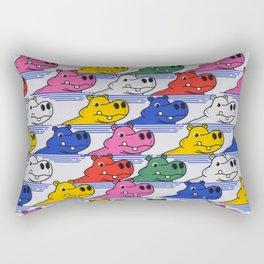 Hippos pattern no2 Rectangular Pillow