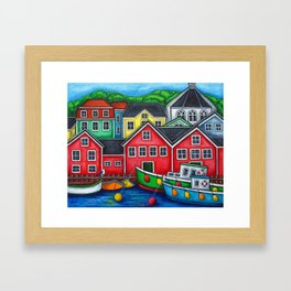 Colours of Lunenburg Framed Art Print