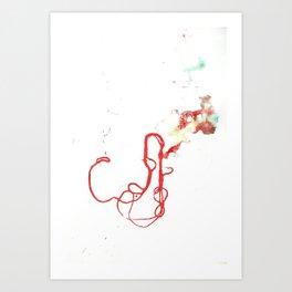 Thread Drawing no. 1 Art Print