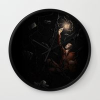lynch Wall Clocks featuring Ronan Lynch by Katy-L-Wood