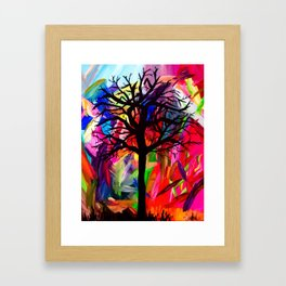Vibrant Darkness Framed Art Print