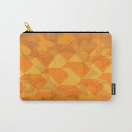 Abstract shapes in orange gradient background Carry-All Pouch