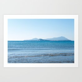 Blue sea in the Bay of Naples Art Print