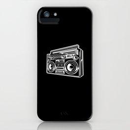 Ghetto Blaster Illustration Gift Idea iPhone Case