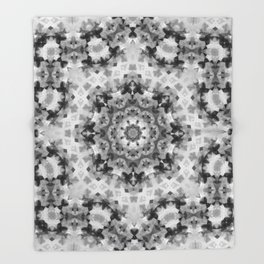 Black and white Persian carpet 1 Throw Blanket
