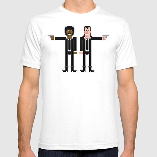Pixel Pulp Fiction Characters T-shirt