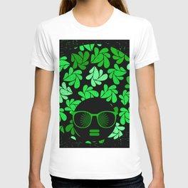 Afro Diva : Green & Black T-shirt