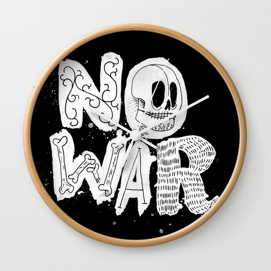 No War Wall Clock