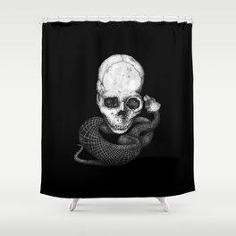 Skull and snake Shower Curtain