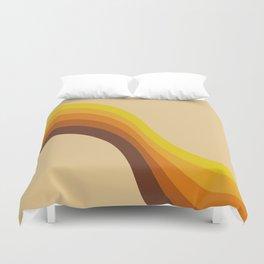 70s Color Palette Duvet Cover