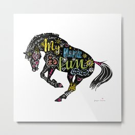Horse (Funny Pony Vibes) Metal Print