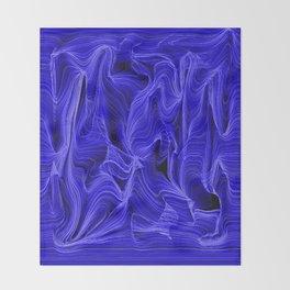 Midnight Blue Mist Throw Blanket