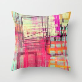 two and more Throw Pillow