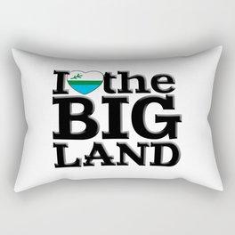 I heart the Big Land Rectangular Pillow