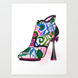 Colourful Bootie Art Print