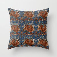 ravenclaw Throw Pillows featuring Ravenclaw by Cryptovolans