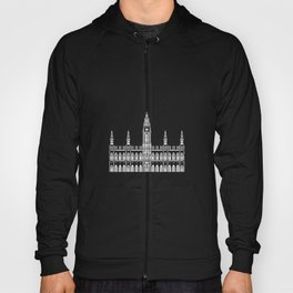 Town Hall Vienna Austria Black and White Hoody