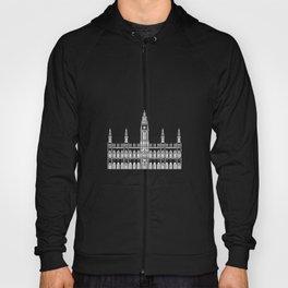 Town Hall Vienna Austria Black and White Hoody