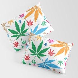 marijuana leaf color pattern Pillow Sham