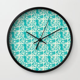 Sewing Toile in Teal Wall Clock