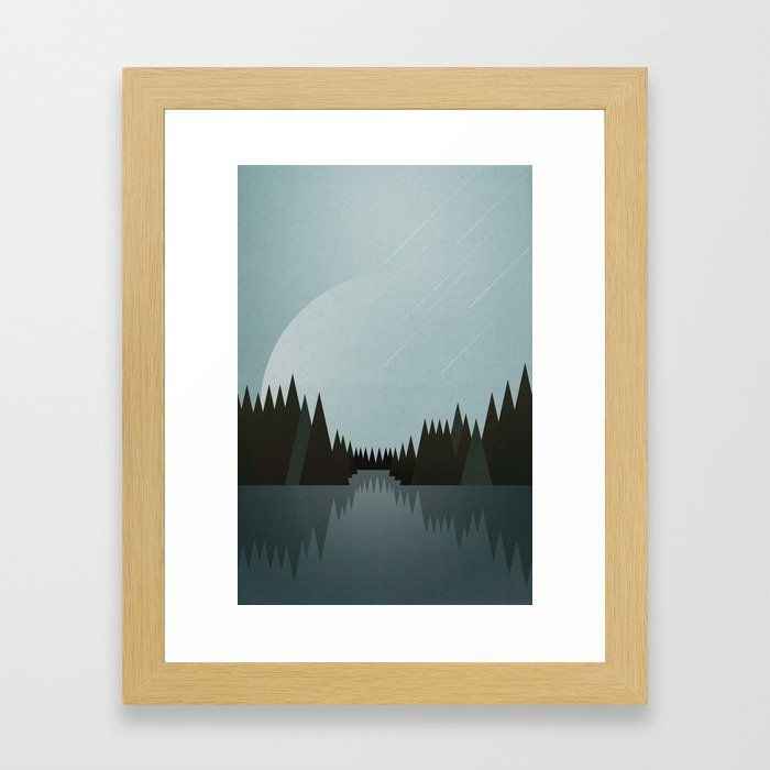 That Night in the Clearing Framed Art Print