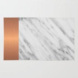 Carrara Italian Marble Holiday Rose Gold Edition Rug