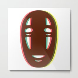 Kaonashi - No Face Metal Print