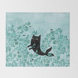 Undersea (Mint Remix) Throw Blanket