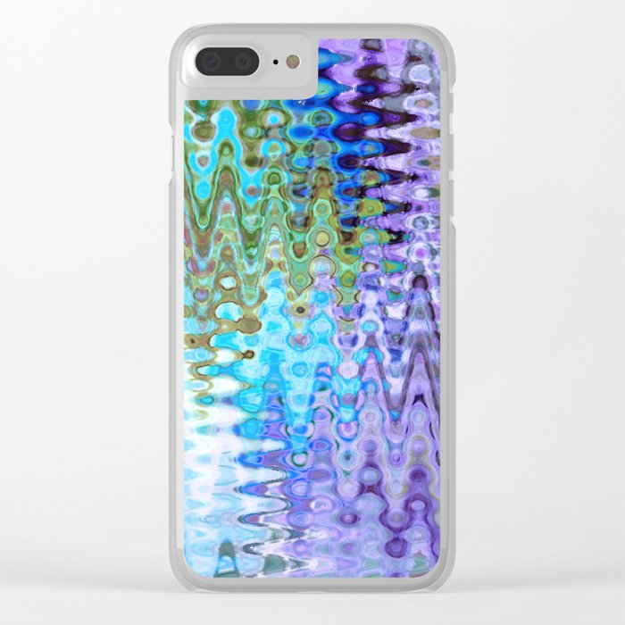 Charming Distractions, Abstract Art Waves Clear iPhone Case