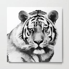 Tiger Black and white Metal Print