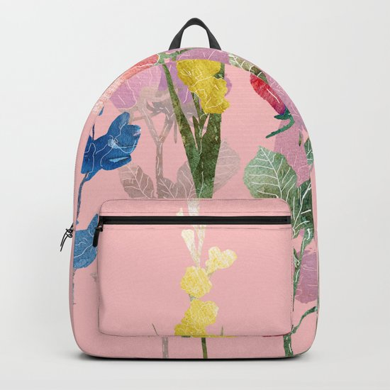 Flowers Four Pink Backpack
