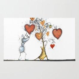 Tree of hearts Rug