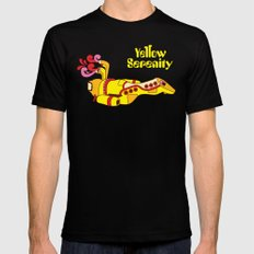 Yellow Serenity X-LARGE Black Mens Fitted Tee