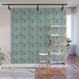 Cute Llamas Illustration Wall Mural
