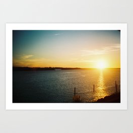 pacific sunset Art Print