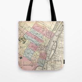 Vintage Map of Albany NY (1874)  Tote Bag