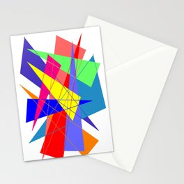 Colour triangles Stationery Cards