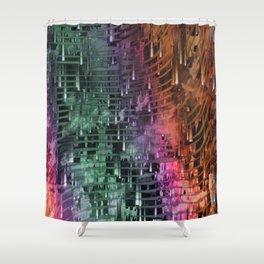 Spatial Factor 101 / Texture 30-10-16 Shower Curtain