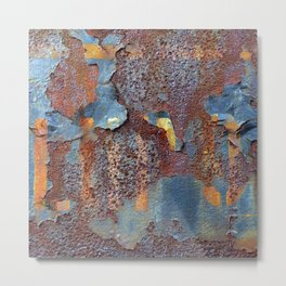 Colors of Rust, ROSTart blue Metal Print