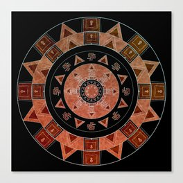 ethnic circle Canvas Print