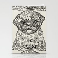 persian Stationery Cards featuring Persian Pug by Huebucket