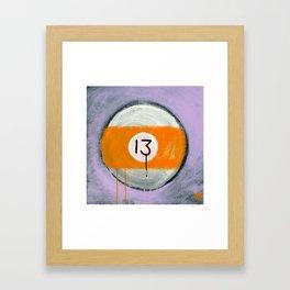 "13 (2011), 17"" x 17"", acrylic on gesso on chipboard Framed Art Print"