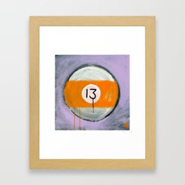 "13 (2011), 17"" x 17"", acrylic on gesso on chipboard Framed Art Print"