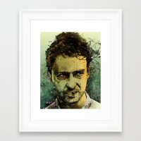 ass Framed Art Prints featuring Schizo - Edward Norton by Fresh Doodle - JP Valderrama