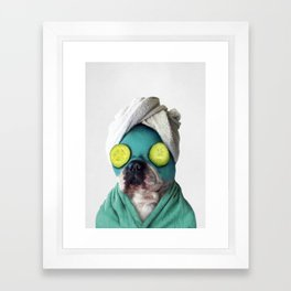 Dog SPA Art Print Framed Art Print